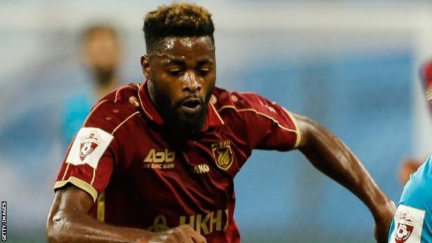 Former Cameroon international Alex Song in action for Rubin Kazan