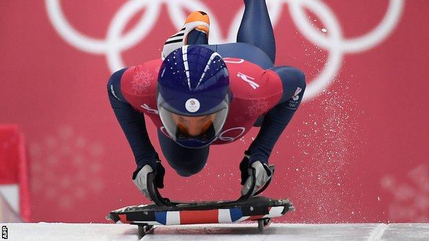 Laura Deas during training at the Pyeongchang Winter Olympics