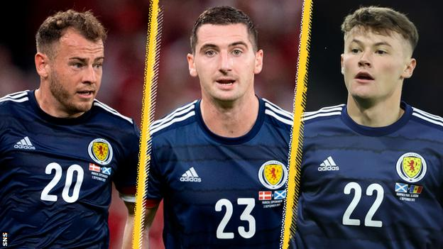 Ryan Fraser, Kenny McLean and Nathan Patterson