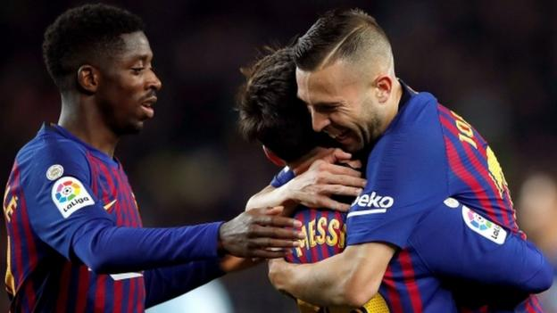 Barcelona 3-0 Levante: Ousmane Dembele & Lionel Messi score as Barca progress thumbnail