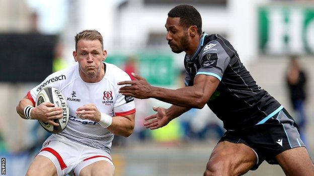 Ulster's Craig Gilroy in action against Glasgow in the first match of this sweason's Pro14