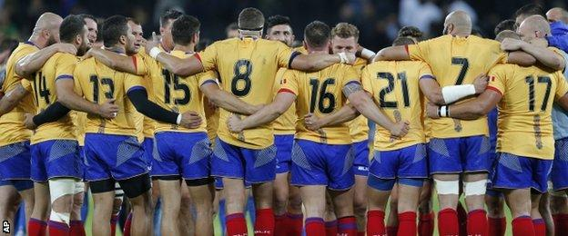 romania in the rugby world cup