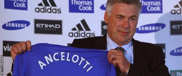 Carlo Ancelotti is unveiled as Chelsea boss in 2009