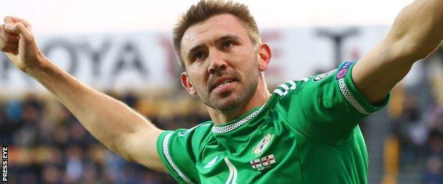 Gareth McAuley now has seven goals for Northern Ireland