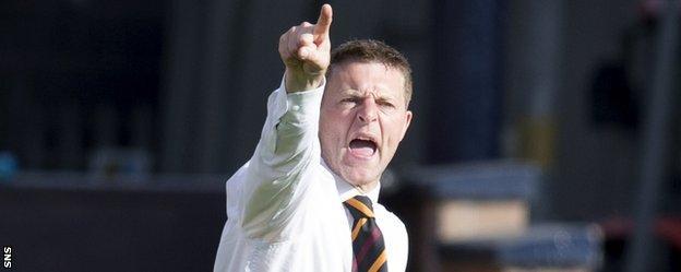 Motherwell manager Stephen Craigan