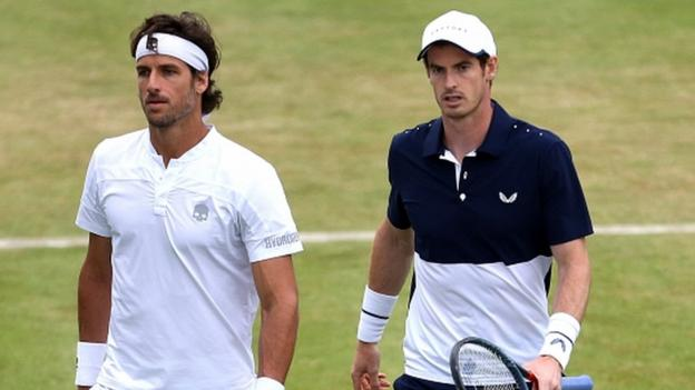 Andy Murray's Queen's doubles quarter-final halted because of bad light thumbnail