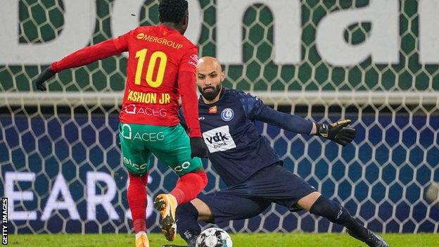 Fashion Sakala has scored 13 goals in 29 league appearances for Oostende this season