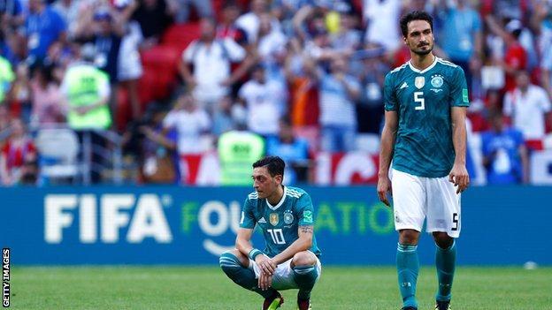 Mesut Ozil and Mats Hummels