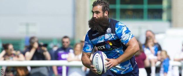 Josh Strauss will soon become eligible to play for Scotland on the residency rule