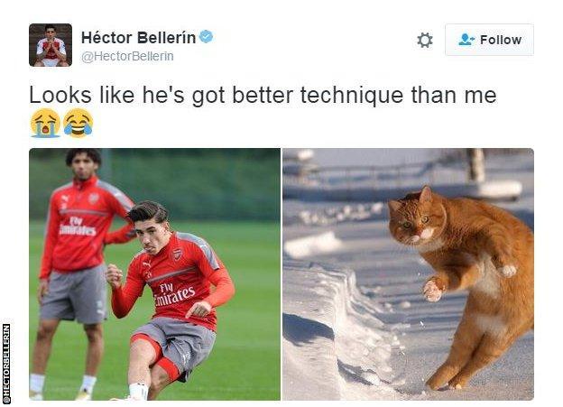 Hector Bellerin Twitter