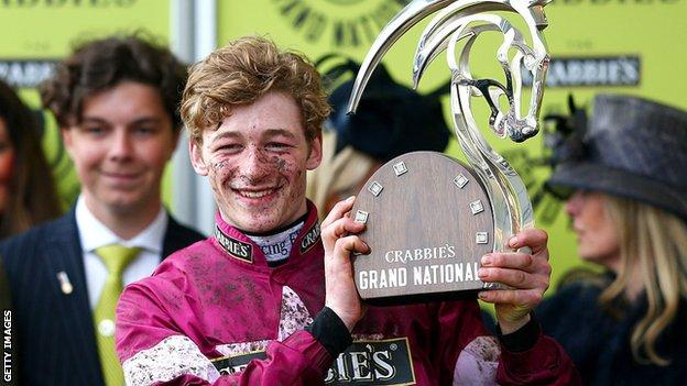 David Mullins was 19 when he won the 2016 Grand National on Rule The World