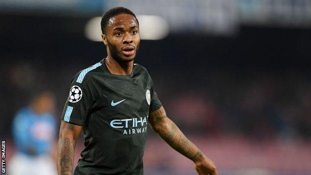 Manchester City winger Raheem Sterling