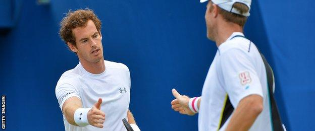 Andy Murray and Dominic Inglot