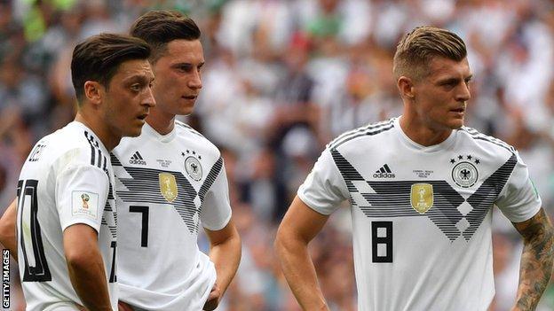 (left to right) Mesut Ozil, Julian Draxler and Toni Kroos