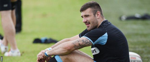 Glasgow Warriors wing Rory Hughes