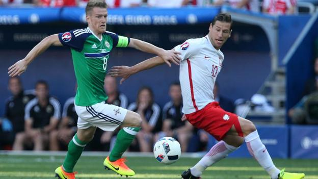 Northern Ireland lost 1-0 to Poland at Euro 2016 in Nice