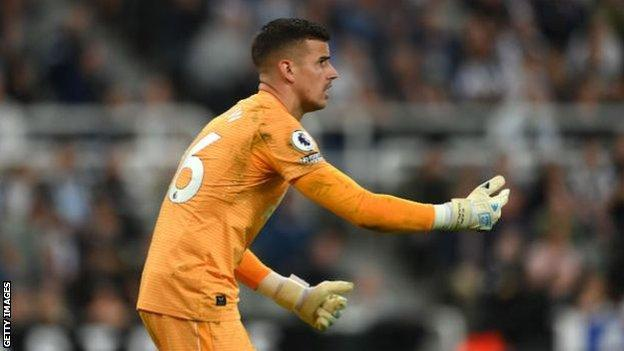Karl Darlow playing for Newcastle United