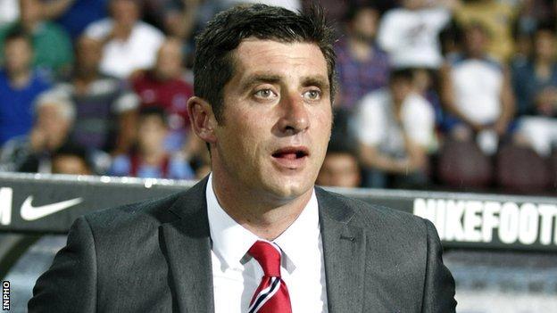 Declan Devine managed Derry to their 2012 FAI Cup triumph