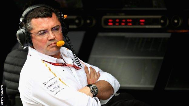 Eric Boullier of McLaren