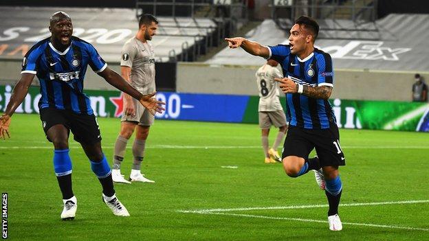 Inter Milan 5 0 Shakhtar Donetsk Lukaku And Martinez Send Inter To Europa Final Bbc Sport