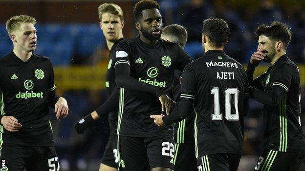 Odsonne Edouard scored twice in the second half for Celtic