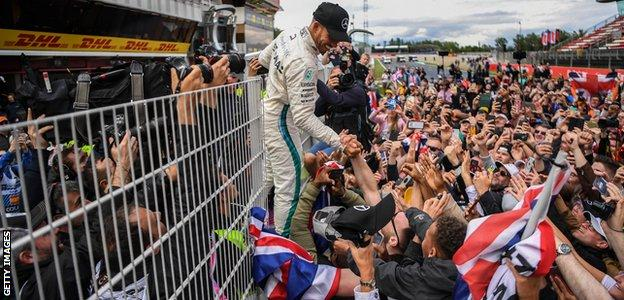 Mercedes F1 driver Lewis Hamilton wins the 2018 Spanish Grand Prix