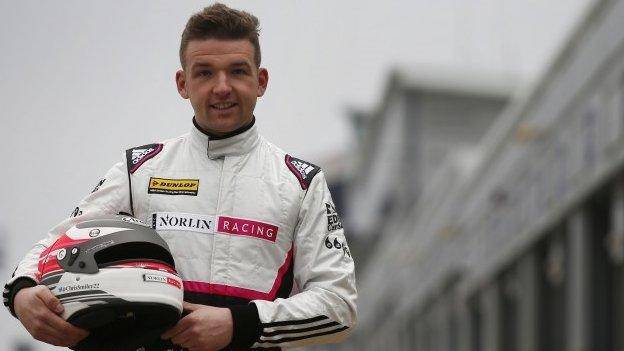 Fortune did not shine on shine on Chris Smiley at Donington Park