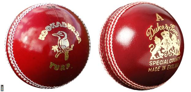 The Kookaburra and Duke balls