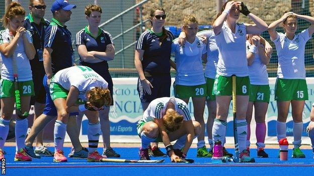 The devastation of defeat for Ireland players as China prevail in the Valencia shoot-out on Thursday