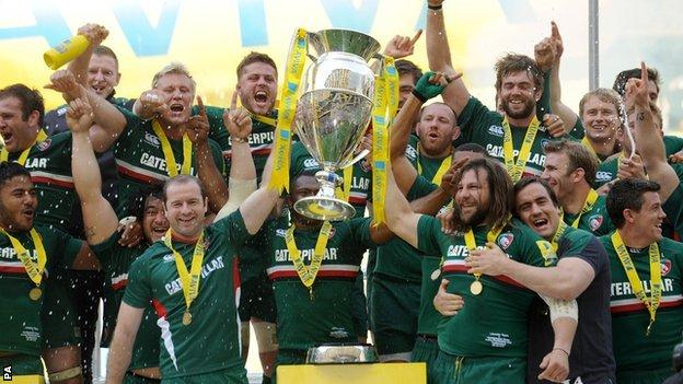 Leicester Tigers have not won the league since 2013