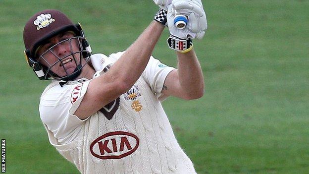 Surrey's Rikki Clarke batting