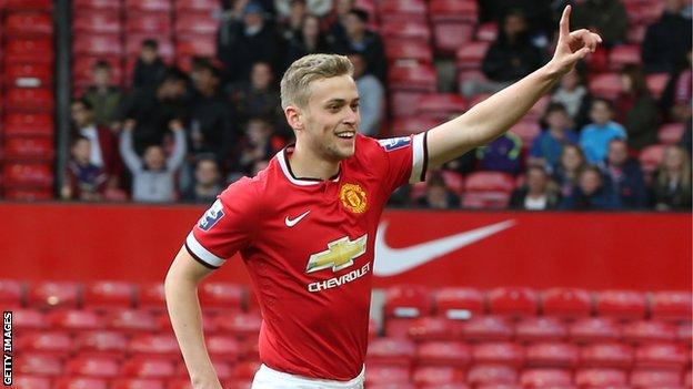 James Wilson has scored four goals in 18 first-team appearances for Manchester United