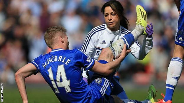 Eva Carneiro while working as Chelsea's first team doctor