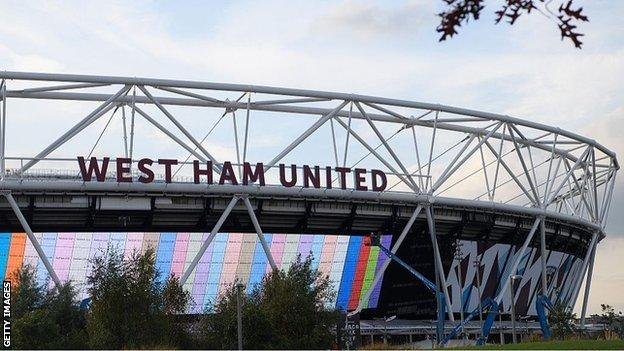 London Stadium, home of West Ham United
