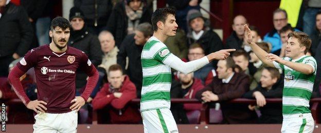 Nir Bitton shot Celtic ahead at Tynecastle