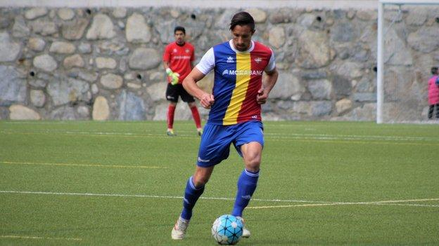 Bessone in action for FC Andorra