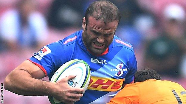 Jamie Roberts in action for Stormers