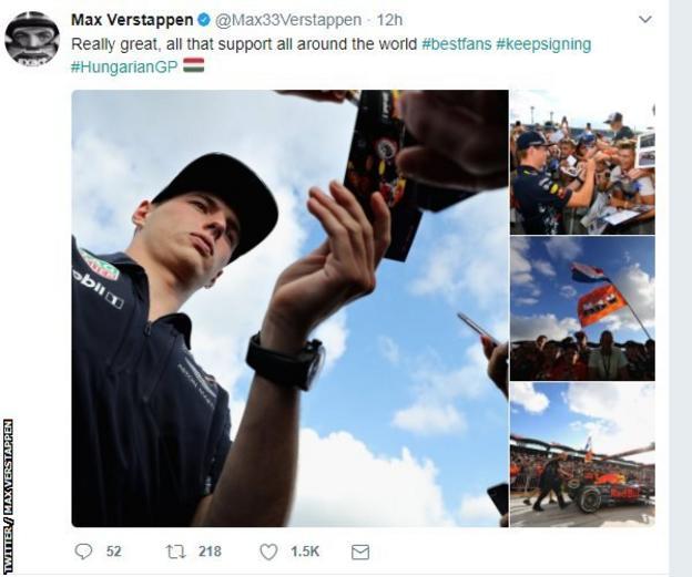 Red Bull Racing's Max Verstappen