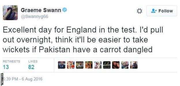 Graeme Swann tweet