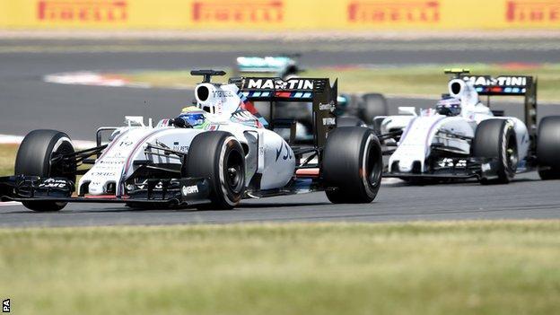 Williams drivers Felipe Massa and Valtteri Bottas