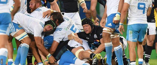 South Africa-born WP Nel played well when he came off the bench to earn his first cap for Scotland