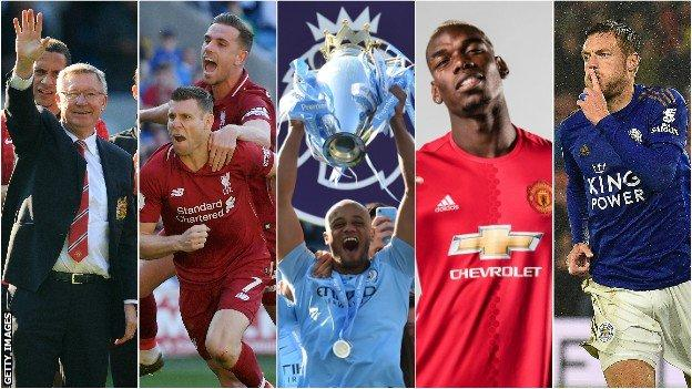 Sir Alex Ferguson, Jordan Henderson and James Milner, Vincent Kompany, Paul Pogba and Jamie Vardy