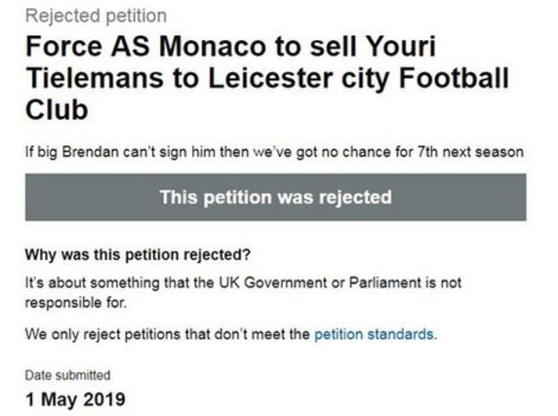 Youri Tielemans petition