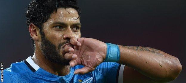 Zenit St Petersburg striker Hulk