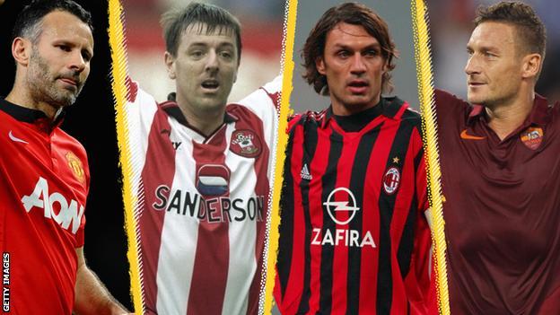 Giggs, Le Tissier, Maldini, Totti