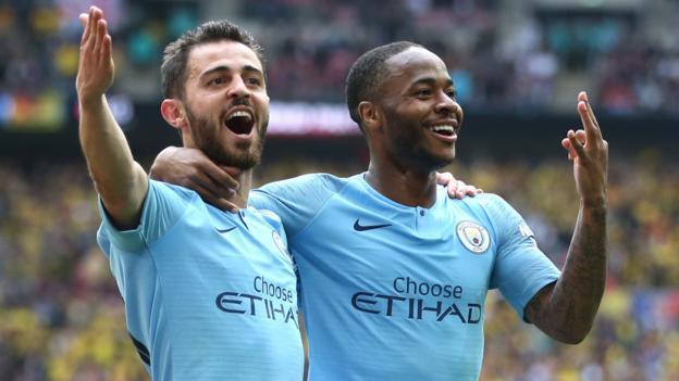 Man City 6-0 Watford: Raheem Sterling scores FA Cup final hat-trick thumbnail