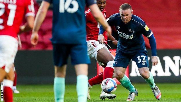 Derby County's Wayne Rooney