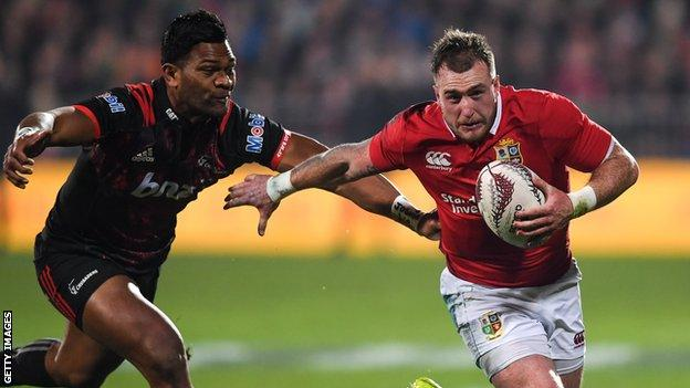 Scotland full-back Stuart Hogg was injured on the Lions' tour of 2017 before the Test matches