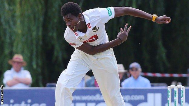 Sussex fast bowler Jofra Archer