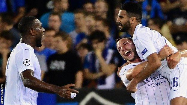 Leicester win opening Champions League game